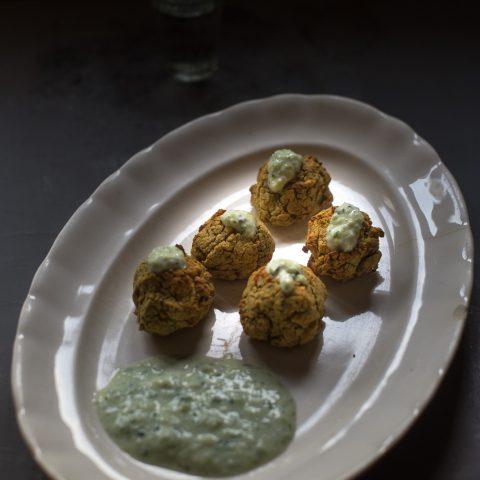 Falalfel vegano de calabaza y garbanzo