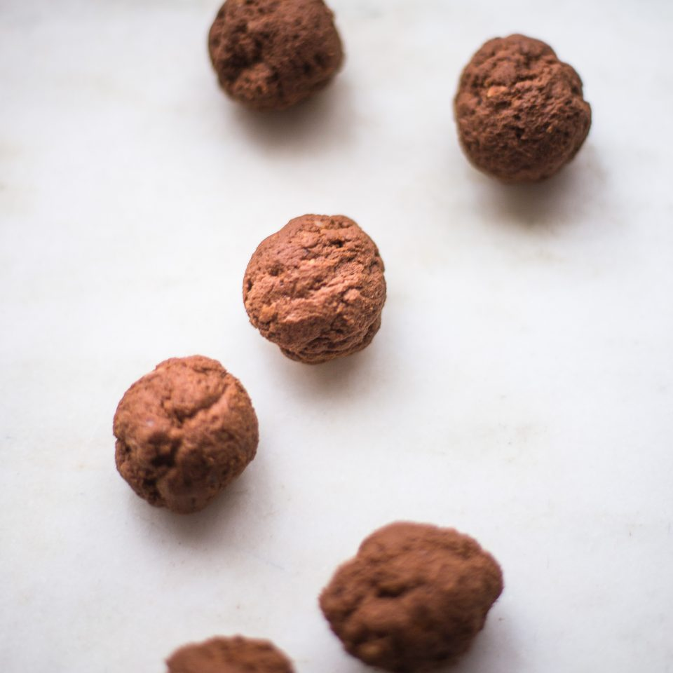 sweet potato and cocoa truffle